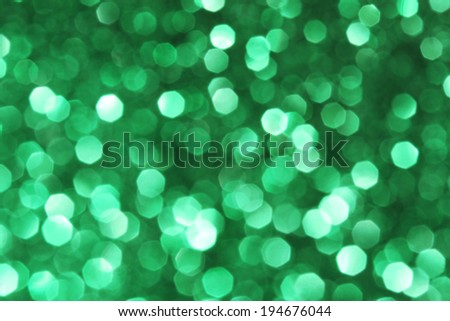 Abstract green glitter background - stock photo
