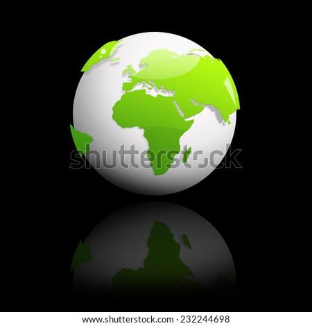 Abstract green globe  - stock photo