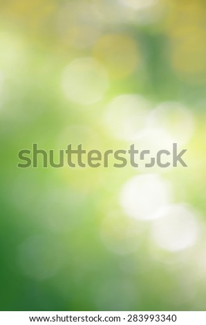 abstract green nature defocus background - stock photo