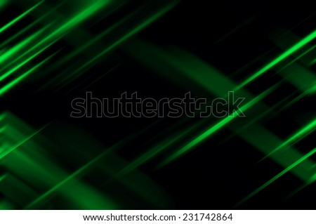 Abstract green neon fractal background with various color lines and strips - stock photo