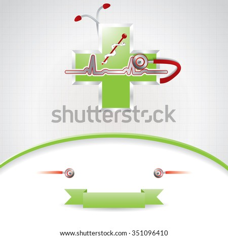 Abstract green red medical background  - stock photo