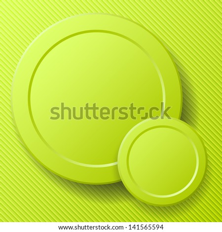 Abstract green round background layout