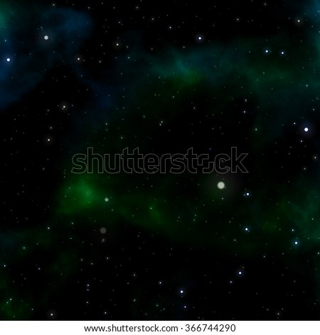 abstract green space background - stock photo
