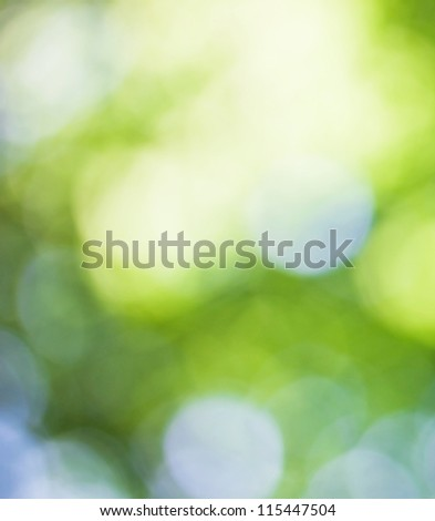Abstract green spring background - stock photo