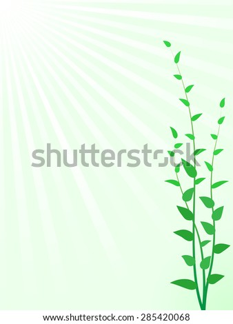 Abstract green sprouts background with copy space - stock photo