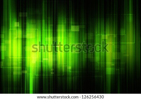 abstract green tech background - stock photo