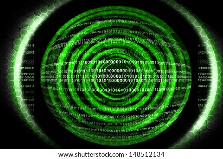 Abstract green technology - stock photo