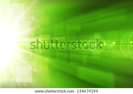 Abstract green technology background. - stock photo