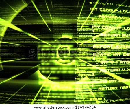 Abstract green text background - stock photo