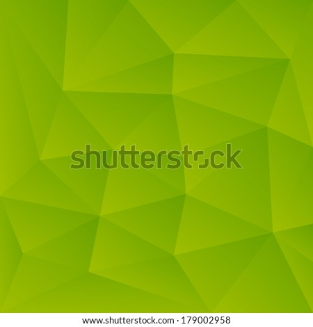 Abstract Green Triangle Background - raster version - stock photo