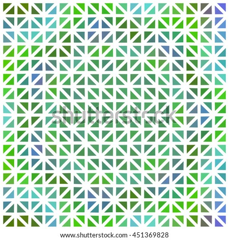 Abstract green violet triangular background under white grid - digitally rendered tile
