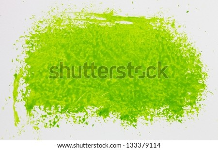 Abstract green watercolor hand painted background - stock photo