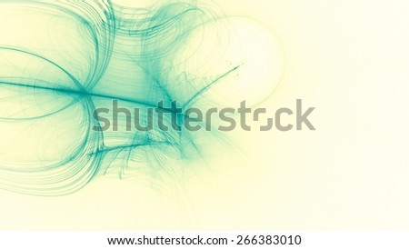 Abstract Green Yellow White Background with Lines Curves Lights