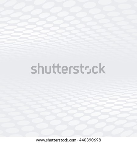 Abstract grey and white halftone perspective background - stock photo