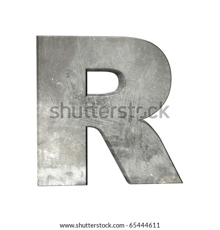 abstract grey letters