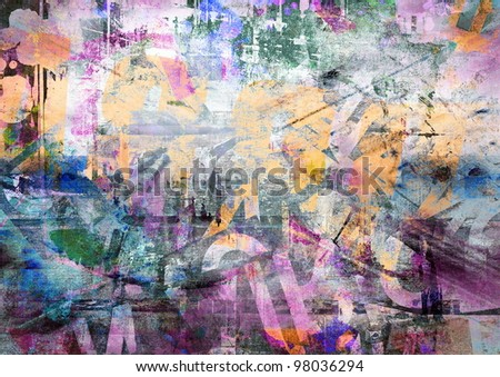 Abstract grunge background, color illustration - stock photo