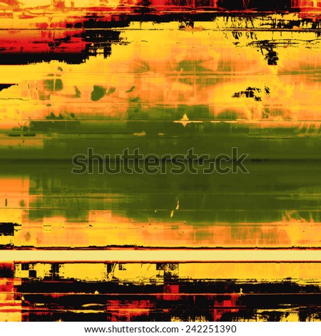Abstract grunge background or old texture. With different color patterns: green; red (orange); yellow (beige) - stock photo