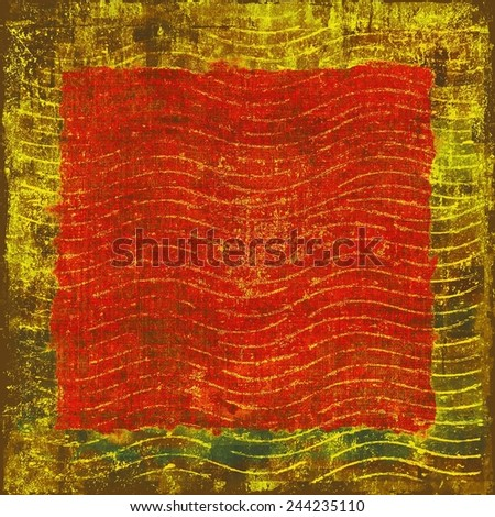 Abstract grunge background or old texture. With different color patterns: yellow (beige); red (orange); brown; green - stock photo