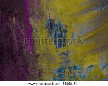 Abstract, grunge background. Vintage texture. Multicolor surface. Red, blue, green, yellow, black