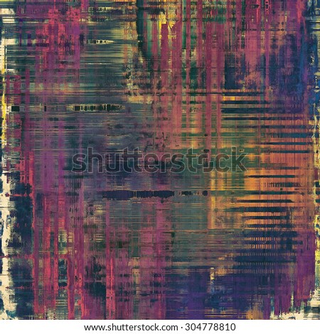 Abstract grunge background with retro design elements and different color patterns: brown; blue; green; purple (violet) - stock photo
