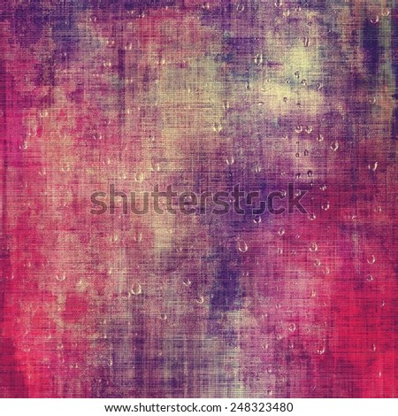 Abstract grunge background with retro design elements and different color patterns: red (orange); gray; purple (violet); pink - stock photo