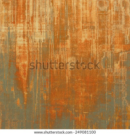Abstract grunge background with retro design elements and different color patterns: yellow (beige); brown; gray; red (orange) - stock photo