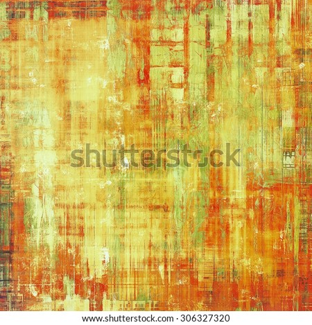 Abstract grunge background with retro design elements and different color patterns: yellow (beige); brown; red (orange); green - stock photo