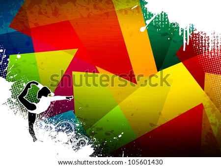 Abstract grunge Ballet or Gymnastic sport background with space