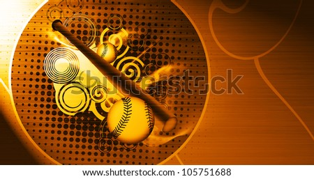 Abstract grunge Baseball objects background with space - stock photo