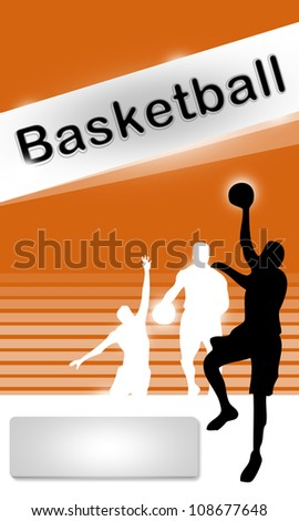 Abstract grunge Basketball sport  background with space - stock photo