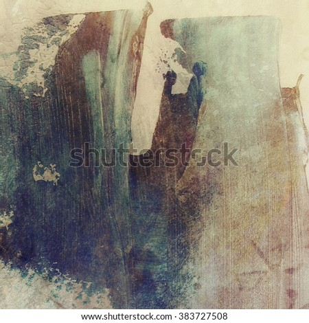 Abstract grunge brush stroke wall background, canvas texture - stock photo