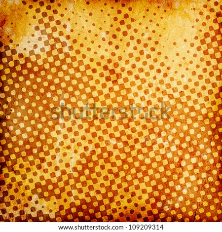 abstract grunge checkered background with stains - stock photo