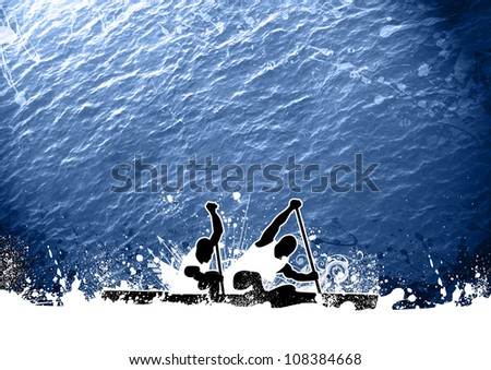 Abstract grunge color Kayak background with space - stock photo