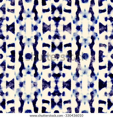 Abstract grunge dyed ornament. Seamless pattern. - stock photo