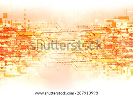 abstract grunge electronic technology background illustration - stock photo