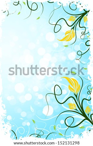 Abstract Grunge Flower Background for Your Design