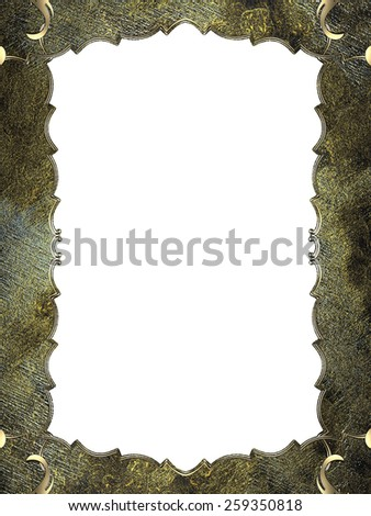 Abstract grunge frame with gold border. Design template. Design site - stock photo