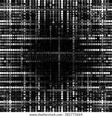 Abstract grunge grid polka dot background pattern. Spotted halftone line illustration