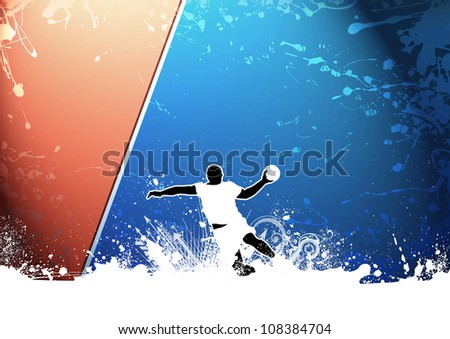 Abstract grunge Handball shot background with space - stock photo