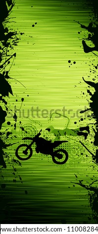 Abstract grunge Motorcycle and the rider background with space - stock photo