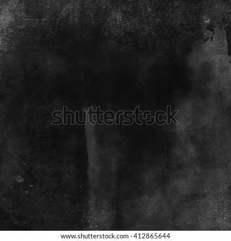 Abstract grunge old black wall background, texture - stock photo