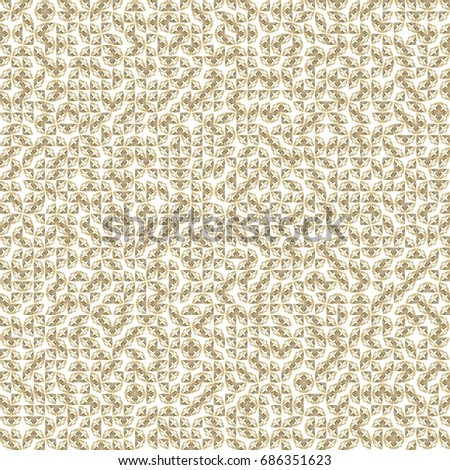 Abstract grunge orange texture on white background. Rough noise design. Very small broken mosaic floral patterns are chaotically placed.