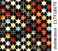abstract grunge star seamless (raster version) - stock photo