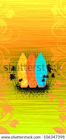 Abstract grunge Surf summer background with space