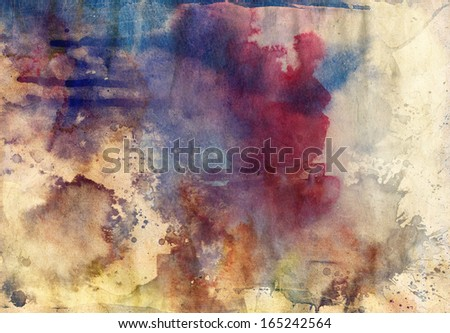 Abstract grunge texture with paint splatter  - stock photo