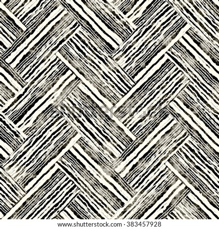 Abstract grunge textured rough striped zigzag blocks. Seamless pattern. - stock photo