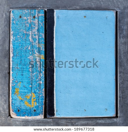 Abstract grunge wood art colored with cement frame  texture background - stock photo