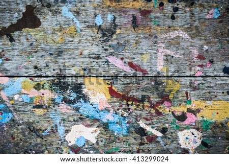 Abstract grunge wooden plank dirty paint background