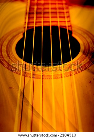abstract guitar composition - stock photo