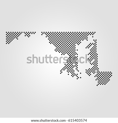 Alaska Map Halftone Dotted Illustration Isolated Stock Vector
